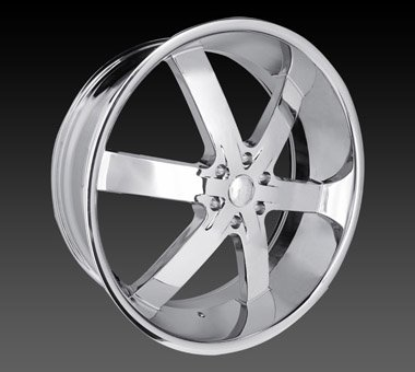 "22"" U2 55 Wheels Chrome Rim 22x9.5  Chrome 5x127"