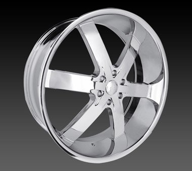 "22"" U2 55 Wheels Chrome Rim 22x9.5  Chrome 6x135"