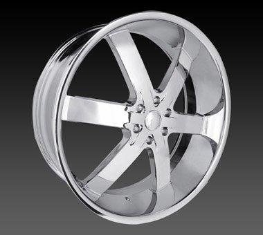 "24"" U2 55 Wheels Chrome Rim 24x9.5  Chrome 5x127"