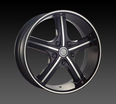 "22"" U2 55 Wheels  Rim 22x9.5  Machine Black 5x115"
