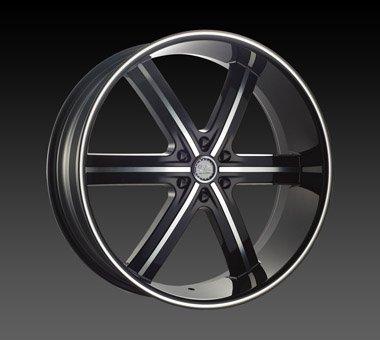 "22"" U2 55 Wheels  Rim 22x9.5  Machine Black 6x139.7"