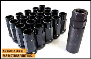 Varrstoen Vt48 Lug Nuts 12x1.25mm Extended Open Black