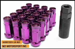 Varrstoen Vt48 Lug Nuts 12x1.5mm Extended Open Purple