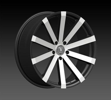 "22"" Velocity VW12 Wheels  Rim 22x9 Machine Black 5x120"