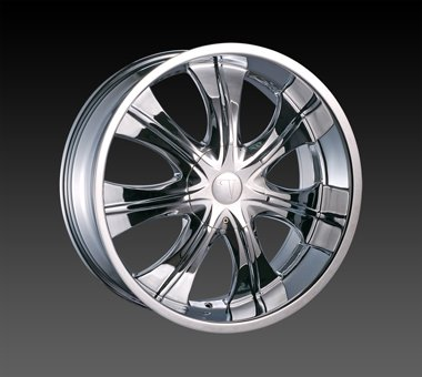 "24"" Velocity VW725 Wheels Chrome  Rim 24x10 Chrome 5x120"