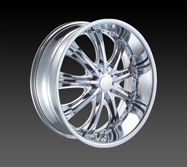 "24"" Red Sport Wheels Rsw 33 Chrome Rim 24x9.5 Offset 13 Chrome 5x120"