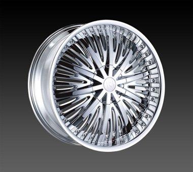 "22"" Red Sport Wheels Rsw 66 Chrome Rim 22x9.5 Offset 30 Chrome 6x139.7"