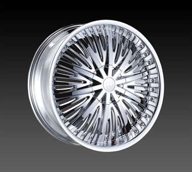 "24"" Red Sport Wheels Rsw 66 Chrome Rim 24x9.5 Offset 13 Chrome 5x139.7"