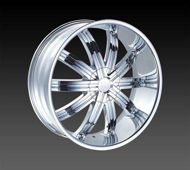 "24"" Red Sport Wheels Rsw 11 Chrome Rim 24x9.5 Offset 13 Chrome 5x139.7"
