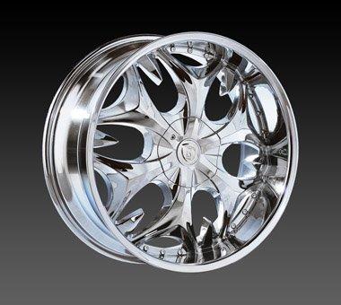 "24"" Borghini Wheels BW3  Chrome Rim 24x10 Offset 13 Chrome 5x127+135"