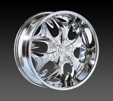 "24"" Borghini Wheels BW3  Chrome Rim 24x10 Offset 13 Chrome 5x135+139.7"