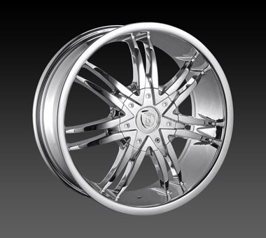 "22"" Borghini Wheels BW14  Chrome Rim 20x9.5 Offset 13 Chrome 6x139.7"