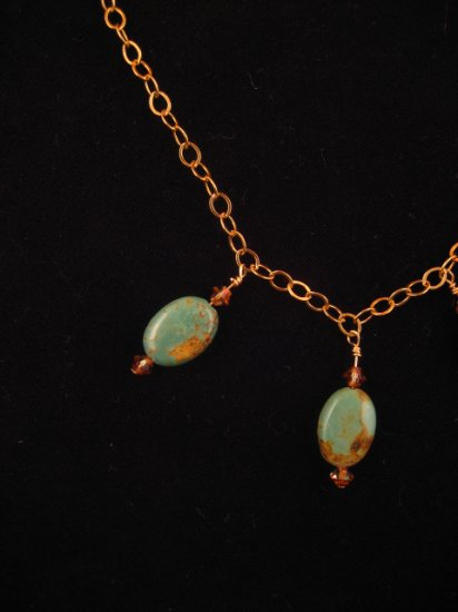 Chinese Turquoise Gold Necklace : DMD1032
