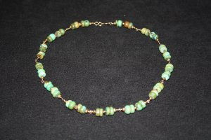 Rondelles and Pearl Necklace - DMD0019