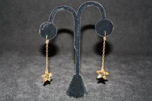 Golden Swarovski Crystal Starfish Earrings - DMD0395