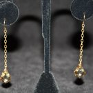 Golden Swarovski Baroque Crystal Earrings - DMD0398
