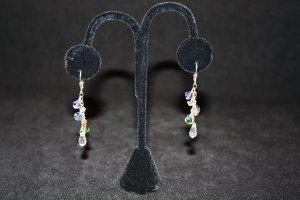 Ocean Colored Swarovski Crystal Earrings - DMD0412