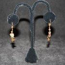 Green, Gold and Grey Keishi Pearl Earrings - DMD0418