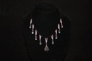 Black Onyx with Swarovski Crystal Necklace - DMD0357