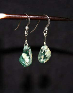 Ancient Roman Glass Earrings - DMD0260