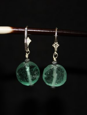 Ancient Roman Glass Bead Earrigs - DMD0270