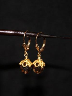 Brown Swarovski Crystal Earrings - DMD0281
