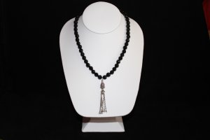 Black Onyx  and Turkish Sliver Necklace - DMD0339