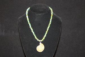Turquoise and Ammonite Fossil Necklace - DMD1969