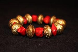 Red Coral Chunk Bracelet - DMD1900