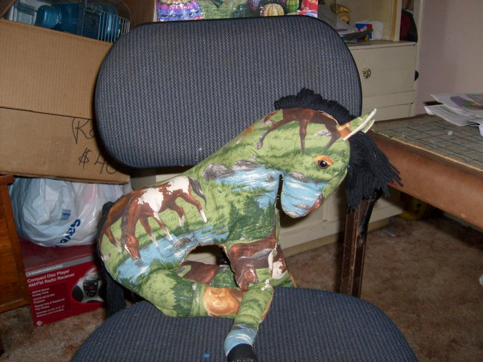 handcrafted stuffed horse