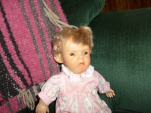 1995 Retired expressions doll by  berenguer 9 and 1/2 inches
