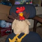 handcrafted stuffed rooster