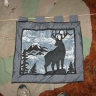 quilted deer wall hanging