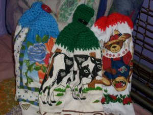 handcrafted crocheted towel topper's
