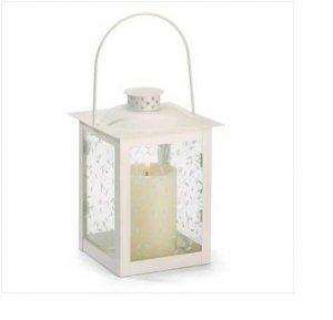 Large Ivory Color Glass Lantern
