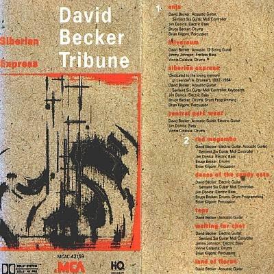 DAVID BECKER TRIBUNE - Siberian Express (1990)- Cassette  Tape