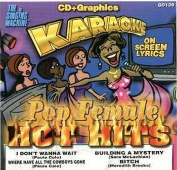 POP FEMALE HOT HITS- Karaoke CDG