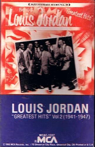 LOUIS JORDAN - Greatest Hits Volume 2 (1982) - Cassette Tape