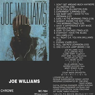 JOE WILLIAMS - Joe Williams - Cassette Tape