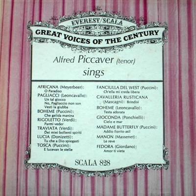 ALFRED PICCAVER - Sings - LP