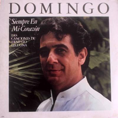 PLACIDO DOMINGO - Songs Of Ernesto Lecuona (1984) - LP