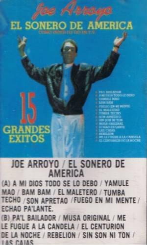 JOE ARROYO / EL SONERO DE AMERICA - 15 Grandes Exitos (1990) - Cassette Tape