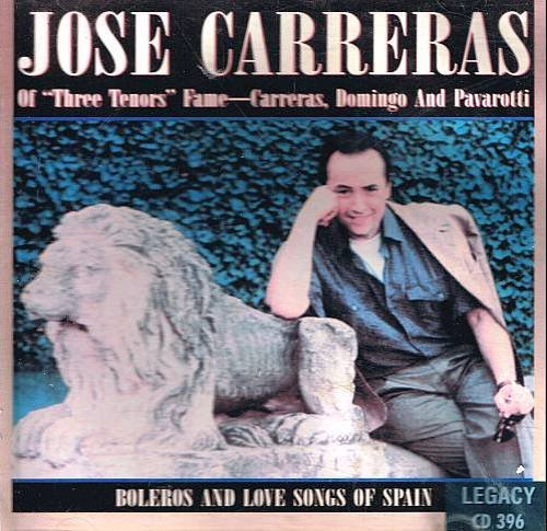 JOSE CARRERAS - Boleros and Love Songs of Spain - CD