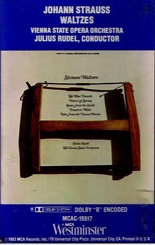JOHANN STRAUSS WALTZES - Julius Rudel (1983) - Cassette tape