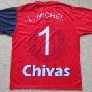 b3188b43f05 LUIS MICHEL #1 C.D. GUADALAJARA CHIVAS JERSEY MENS XL REYNOSO FIERRO ORTIZ