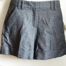 Pied A Terre Turn Up Winter Mini Check Shorts - Grey Size 10 - BNWT
