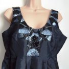 Pied A Terre Sequin Taffeta Dress Black Size 8, 10 or 12 - RRP £150