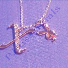 Playboy Platinum Plated Bunny Initial Pendant - Letter X - RRP £25