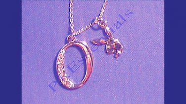 Playboy Platinum Plated Bunny Initial Pendant - Letter O - RRP £25