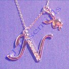 Playboy Platinum Plated Bunny Initial Pendant - Letter N - RRP £25